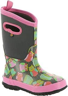 Bogs Kids Classic Owl Snow Boot, Gray Multi, Size 13 M US Little Kid