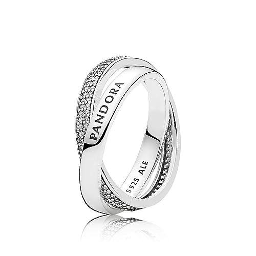 8cd3bbce6 Pandora Women Silver Piercing Ring - 196547CZ-54