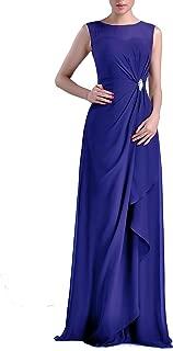 TalinaDress Women Long Sheer Neck Sweetheart Bridesmaid Dress Prom Gown with Rhinestone E093LF