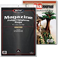 BCW 100 Non-Resealable Thick Magazine Poly Bags and 100 Magazine Backer Boards (100)