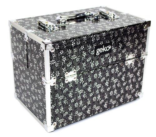 Geko 1-pièce Coiffeuse/boîte de Maquillage, Variante Noir argenté