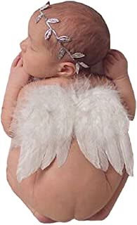Baby Angel Feather Wings Photograph Props with Headband
