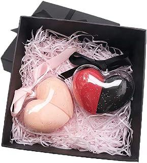 4-delige make-upsponsenset blender-mengspons, vlekkeloos voor vloeistof, crème en poeder, make-upsponzen, huidskleur + rood
