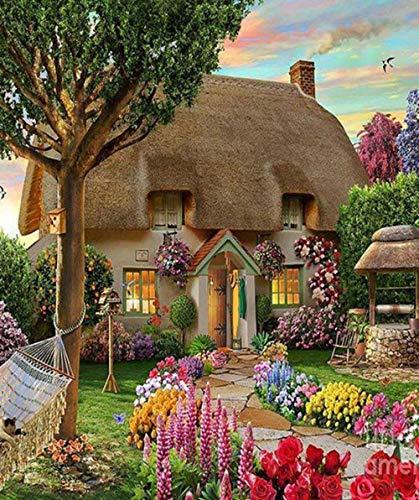 Rompecabezas Adultos 1000 Piezas Flor de la casa Adultos niños Jigsaw Puzzles Juguetes Juego Educación Kit Wooden descompresión coleccionables Arte Decoración 70x50cm