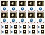 40 Tattoos: US Army Flag & Logo, Military Party Favors