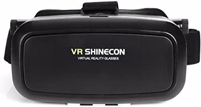 Morjava VR Shinecon 3D VR GLASS Head Mount Virtual Reality 3d Video Glasses for 4~6'' Smartphones 3d Movies Google Cardboard