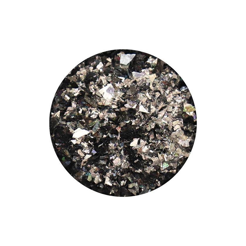 受け入れスカープ運賃ランダムフレークホログラム 約1g ブラック ネイルアート ジェルネイル レジン ホログラム グリッター