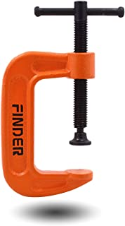 "Finder 2"" C-Clamp Thickened Heavy Duty C Clamp - Unibody Casting With Coated Anti-rust Surface And Strenghthen Screw Mandrel-2 inch"