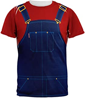 Old Glory Halloween Overalls Red T-Shirt Costume All Over Adult T-Shirt