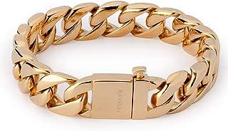 KAVALRI Artillery Steel Bracelet - Gold