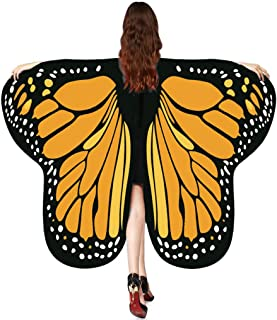 GRACIN Halloween Butterfly Wings Shawl Soft Fabric Fairy Pixie Costume Accessory