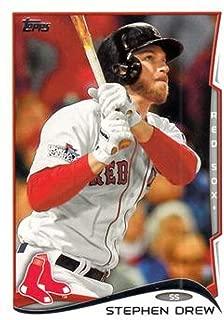 2014 Topps Series 2 Baseball #585 Stephen Drew Boston Red Sox Official MLB Trading Card