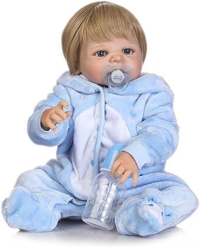 Hay más marcas de productos de alta calidad. ZBYY Reborn Baby Dolls Suave Cuerpo Completo Completo Completo De Vinilo De Silicona Realista Bebé Recién Nacido Regalo 22 Pulgadas 57 Cm  suministro de productos de calidad