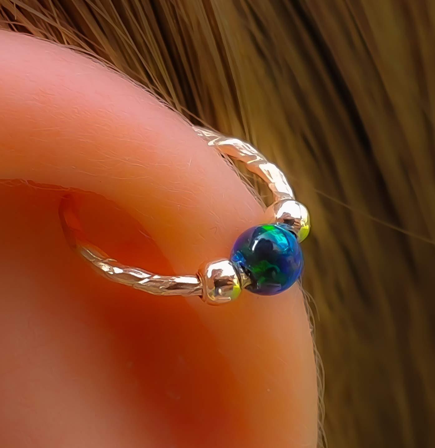 Opal Cartilage Earring Industry No. 1 Hoop - Filled 14k 20 Gauge Gold Finally resale start