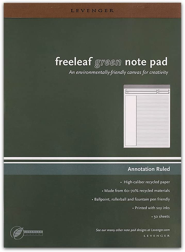Levenger Chicago Max 57% OFF Mall Freeleaf Recycled Annotation Ruled Pads Letter ADS 5
