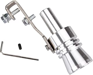 Dromedary Universal Color Chrome Size L Turbo Sound Noise Exhaust Muffler Pipe Whistle/Fake Blow off valve BOV Simulator Whistler