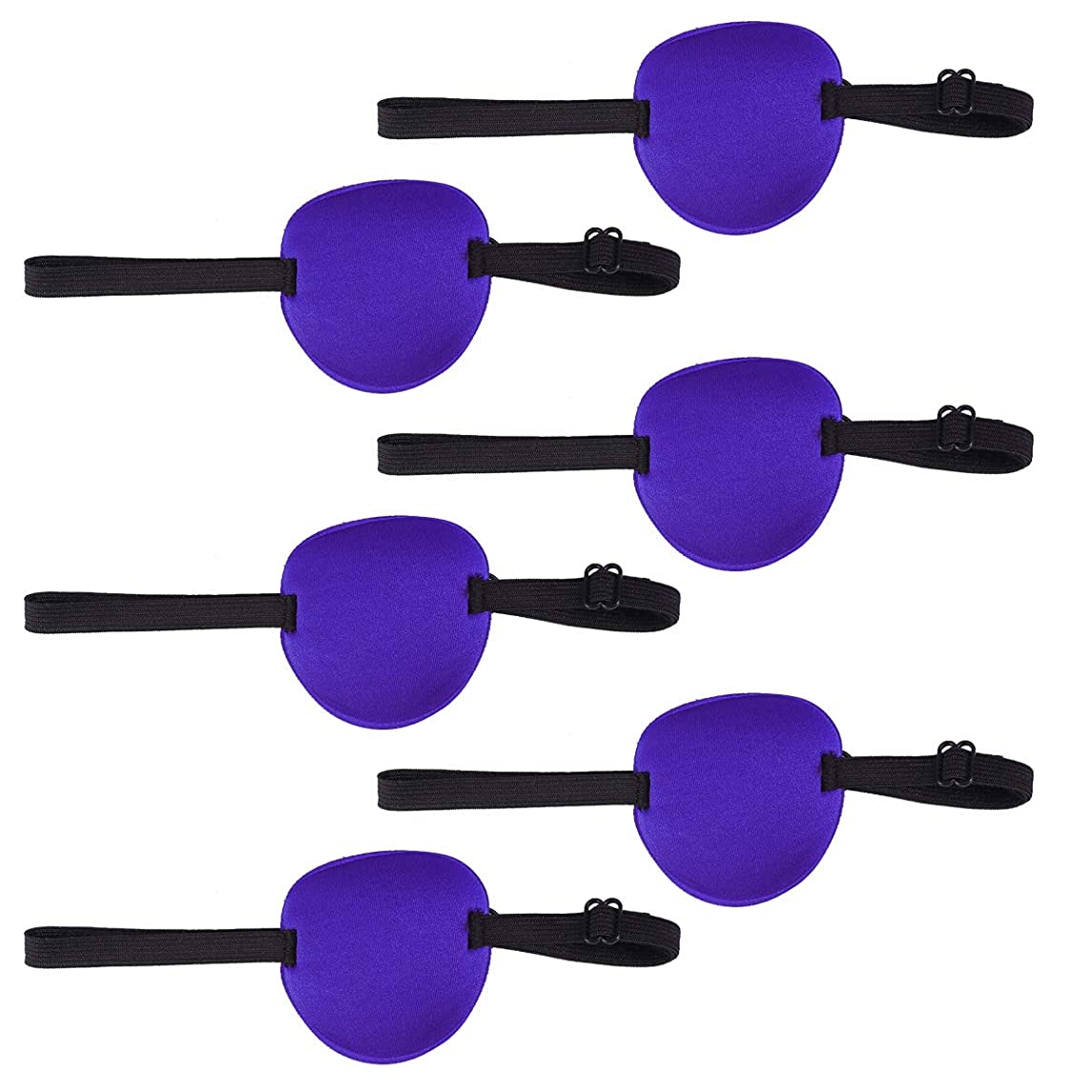 不明瞭アーティファクト置換Healifty 調節可能な弾性バックル付きアイパッチ弱視スポンジアイパッチ6個(青)