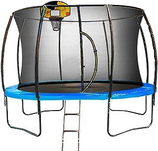14ft Kahuna Pro Trampoline Free Safety Net Spring Reversible Pad Cover Emoji Mat Ladder Basketball Set