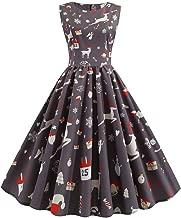 TOPBIGGER Women Vintage Dresses Plus Size Halloween Dresses Womens Sleeveless Party Dress