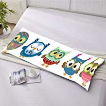 helengili Double-Sided Printing Lovely Owl BodyPillowcases 20 x 54inch 3D Body Pillow Cover for Kids Adults Without Any Filling (1 Piece) (16, 20 x 54inch) (16, 20x54inch)