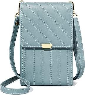 Wukong Women's Small Crossbody Handbag Phone Wallet Bag Credit Card Purse(Blue)