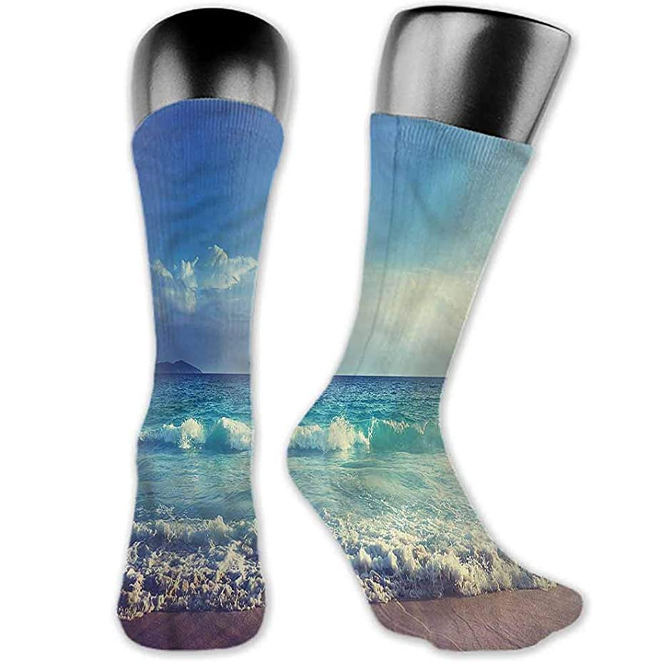 Sock for Male Gifts Ocean,Beach at the Tropical Lands,socks men pack