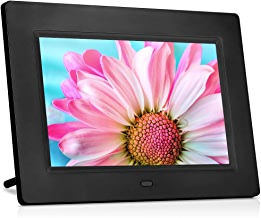 MRQ 7 Inch Digital Photo Frame Play Photos with Slideshow, Full HD IPS Display 180° View Angle Digital Picture Frame with MP3, Calendar, Alarm, Remote Control Function, Support USB and SD Card
