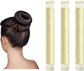 Hair Bun Maker,Easy Perfect French Twist Donut Maker,Hair Fold Wrap Snap DIY Shaper Hair Style Tool for Girls Women,3 Pcs(...