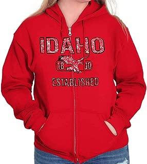 Idaho Vintage Student Workout ID Americana Zip Hoodie
