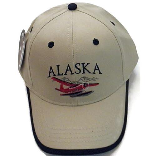 Arctic Circle Enterprises Alaska Bush Float Plane With Blue Trim Adult Ball  Cap Hat OSFA aeb411a3da03