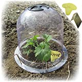 SYITCUN Protective Plant Cloche Reusable Plastic 15 Pack Plant Bell Cover Plant Protector Cover for Season Extension (8' Diam. X 7' Height)
