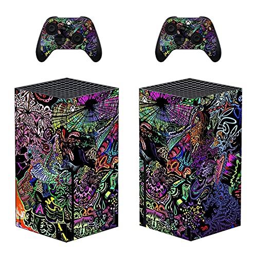 LUONE pour l'autocollant de la Peau de la série Xbox, Une Couverture de décalque Vinyle de Corps Complet pour la Console et 2 contrôleurs Film de Protection,0486