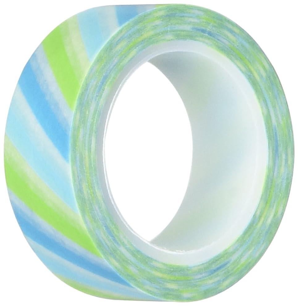 Wrapables Striped Japanese Washi Masking Tape, Diagonal Blue and Green Stripe gkxdoeval5726