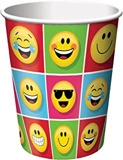 Creative Converting 322174 Show Your Emojions Paper Cups, 9 oz