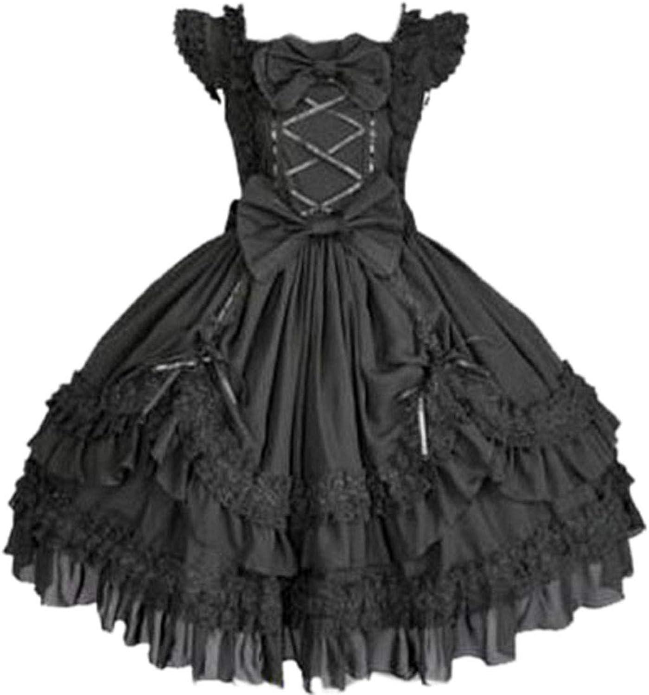 IYouth Womens Bowknot Classic Sweet Lolita Dress Prom Dress