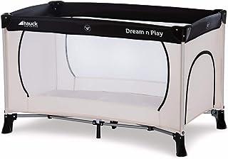 Hauck Dream'n Play Plus, Reisebett 3-teilig 120 x 60 cm, ab Geburt bis 15 kg, inkl. Tragetasche und Schlupf faltbar, tragbar, leicht & kippsicher, beige