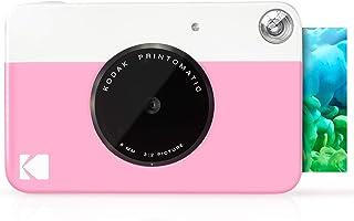 Kodak Printomatic - Cámara de impresión instantánea imprime en Papel Zink 5 x 7.6 cm con respaldo adhesivo rosado