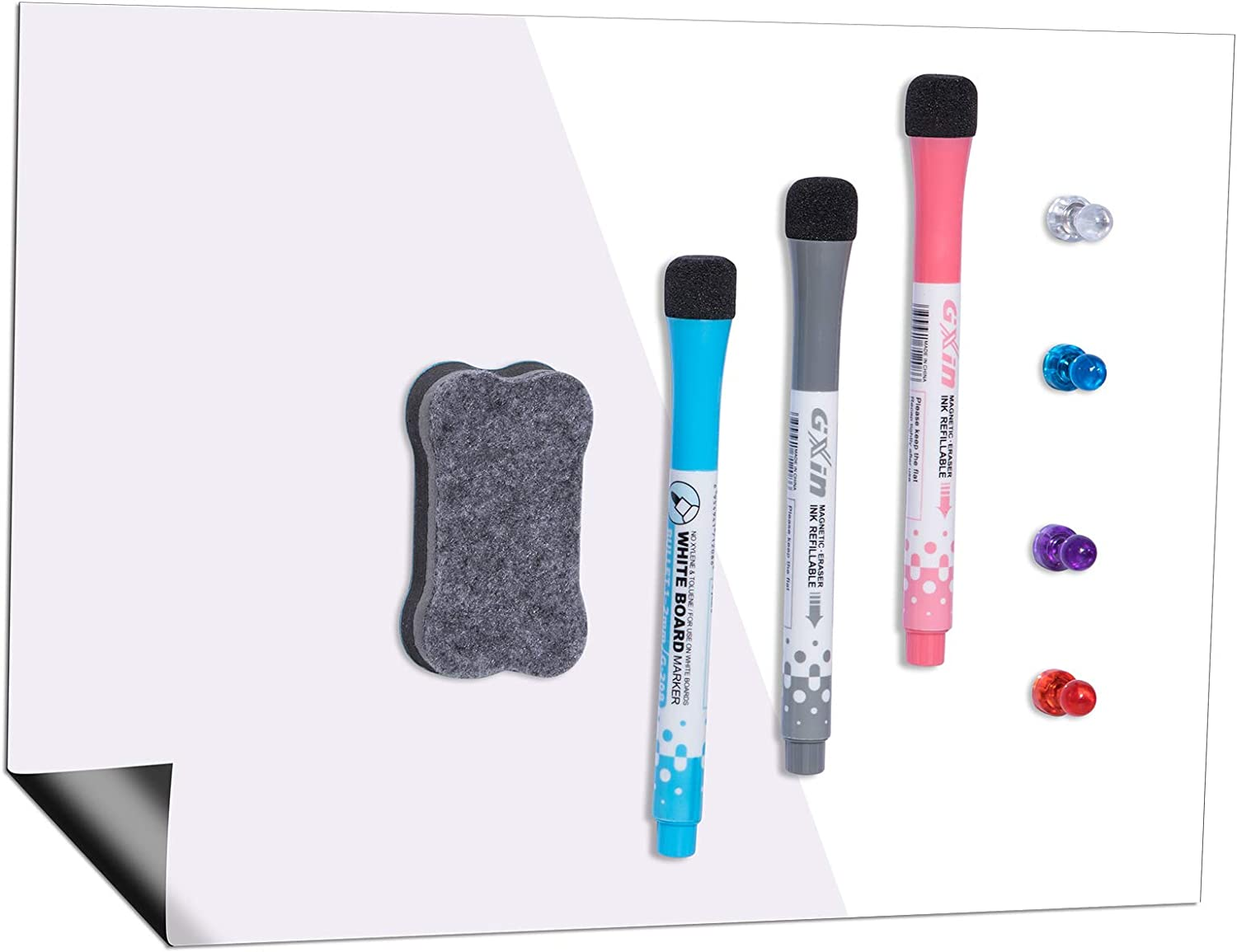 Magnetic Dry Erase Whiteboard Gorgeous Sheet for inch Fridge 17x11 Refrig Free shipping anywhere in the nation