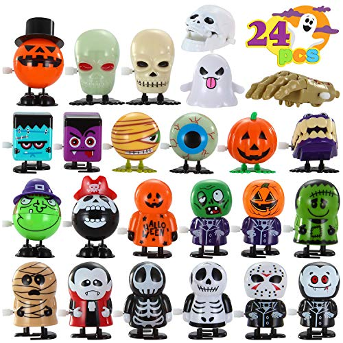 JOYIN 24 Pack Halloween Wind Up Toy Assortments for Halloween Party Favor Goody Bag Filler (24 Pieces Pack)