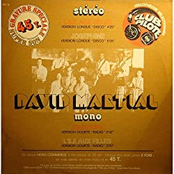 DAVID MARTIAL josephine/l'ile aux filles MAXI Promo Jukebox 1976 CBS VG++