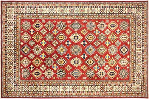 Teppichprinz Alfombra oriental afgana Kazak fina, 368 x 275 cm, tejida a...