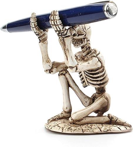 popular Skull Pen Holder Skeleton high quality Pencil Holder Bracket Resin Skeleton 2021 Pen Storage Rack Makeup Brush Display Stand for Halloween Home Office Decoration online