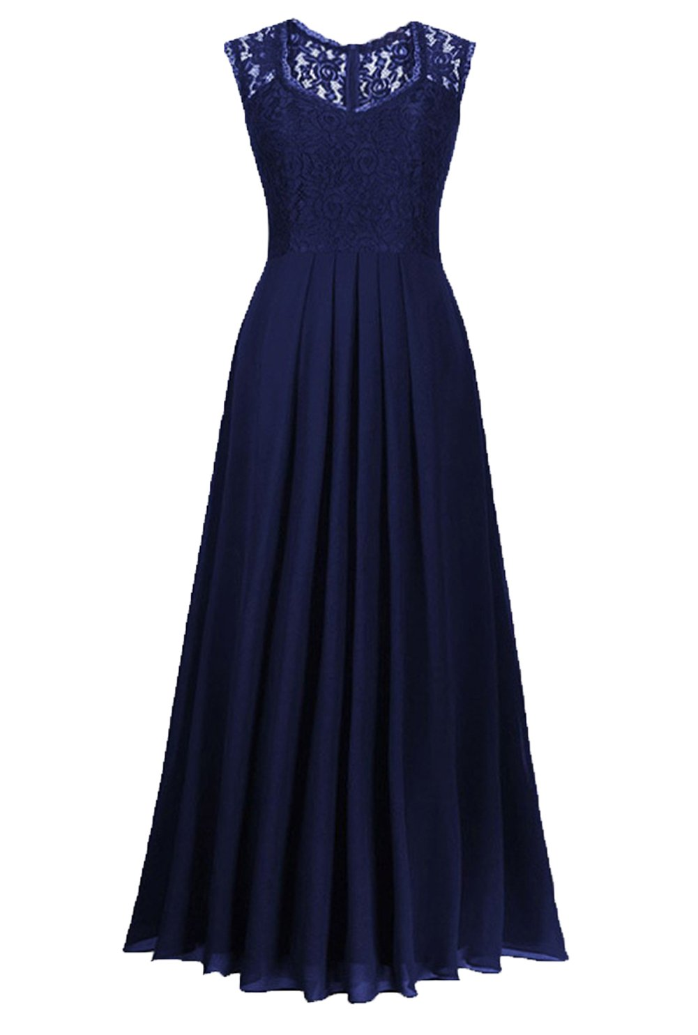 Available at Amazon: LECHEERS Women's Wedding V-Neck Vintage Maxi Bridesmaid Evening Formal Dress