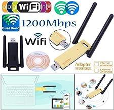 KuWFi 1200Mbps Dual Banda Inalámbrica USB WiFi Adaptador 5Ghz 2.4Ghz Mini USB WiFi Tarjeta De Red 802.11ac RTL8812BU Chipset Antena Dongle