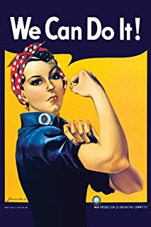 Smithsonian Laminated Rosie The Riveter We Can Do It Poster 24 x 36in