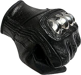 Full Finger Carbon Fiber Motorcycle Gloves Steel Knuckle...