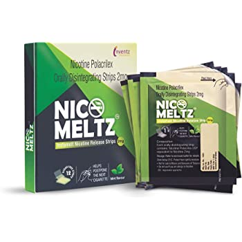 Nicomeltz Instamelt Nicotine Release Strips, Mint Flavored, Sugar Free, Quit Smoking For Good - 2mg (12 Strips) - Pack of 3