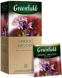 Greenfield Schwarzer Tee, Frühling-melodie, 25 Teebeutel in einer Box 2 stück