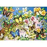 MXJSUA 5D Kit de Pintura de Diamante Taladro Completo Artesanía Suministro de Lienzo para decoración de Pared del hogar Adultos y niños Mariposa de Colores 30x40cm