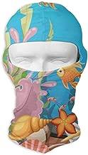 Balaclava Tropical World Fish Aquatic Coral Full Face Masks UV Protection Ski Hat Mens Headcover for Hiking
